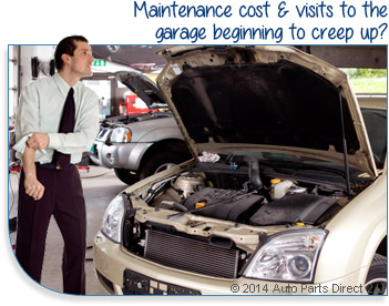 Maintenance cost & visits to the garage beginning to creep up?