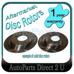 Toyota Avensis Verso Rear Brake Disc Rotors