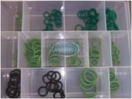 HNBR Green Air Conditioner O'Ring Assortment Grab Kit - 163 pieces