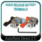 Cars, Caravans Quick Release Battery Terminal Clamps