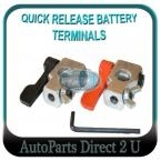 Hot Rods Sports Cars Quick Release Battery Terminal Clamps